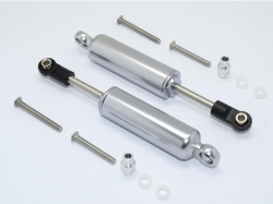 ALUMINIUM FRONT/REAR INTERNAL SHOCKS Silbergrau for Traxxa..