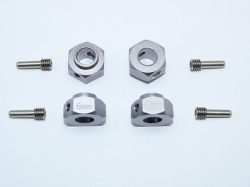 ALUMINUM HEX ADAPTERS 6MM THICK Silbergrau for Traxxas TRX..
