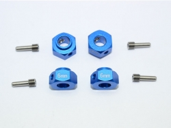 ALUMINUM HEX ADAPTERS 6MM THICK Blau for Traxxas TRX-4 DEF..