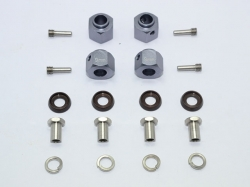 ALUMINUM HEX ADAPTERS 9MM THICK Silbergrau for Traxxas TRX..