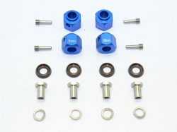 ALUMINUM HEX ADAPTERS 9MM THICK Blau for Traxxas TRX-4 DEF..
