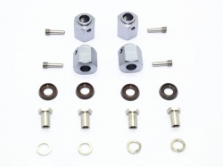 ALUMINUM HEX ADAPTERS 12MM THICK Silbergrau for Traxxas TR..
