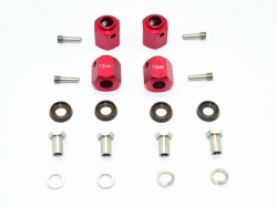 ALUMINUM HEX ADAPTERS 12MM THICK Rot for Traxxas TRX-4 DEF..
