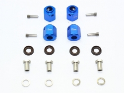 ALUMINUM HEX ADAPTERS 12MM THICK Blau for Traxxas TRX-4 DE..