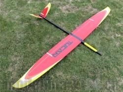 RCRCM Tucan Spw.2,0m GFK Rot/Orange/Weiss/Gelb mit Schutzt..