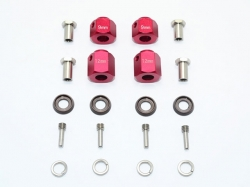 ALUMINUM HEX ADAPTERS 9MM & 12MM THICK Rot for Traxxas TRX..