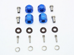 ALUMINUM HEX ADAPTERS 9MM & 12MM THICK Blau for Traxxas TR..