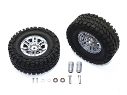ALUMINUM 6 POLE WHEELS & CRAWLER TIRE + 23MM HEX ADAPTER S..