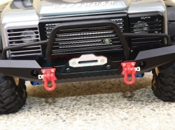 ALUMINUM FRONT BUMPER WITH LED LIGHTS FOR CRAWLERS (A) Sch..