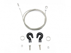 METAL TOWING HOOKS W/STEEL WIRE Schwarz von Roadtech