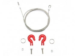 METAL TOWING HOOKS W/STEEL WIRE Rot von Roadtech