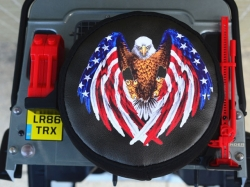 SPARE TIRE COVER Bald Eagle 1/10 Traxxas TRX-4 von Roadtech