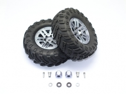 "1.9"" ALUMINUM 6 SPOKES BBS RIMS WITH ONROAD TIRES AND 9MM .."