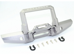 ALUMINIUM FRONT BUMPER WITH D-RINGS Silbergrau for Traxxas..
