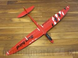 RCRCM E-Sunbird Spw.1,52m GFK Rot/Weiss&Schwarz inkl. Schu..