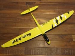 RCRCM E-Sunbird Spw.1,52m GFK Gelb/Weiss&Schwarz inkl. Sch..