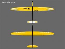 RCRCM Tomcat Evo 2.5m CFK Gelb mit Schutztaschen, RC Model..
