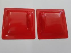 Servoabdeckungen 45x45 L/R Rot zu RCRCM Modellen 2Stk.