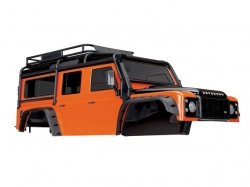 Traxxas Body, Land Rover Defender, adventure orange