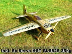 "Set AeroPlusRC Edge 540 V3 EX 76"" inkl. Servos KST BLS825"