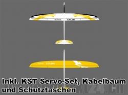 Set RCRCM Cylon CFK Spw 2m W/G inkl. Servos/Schutztaschen/..