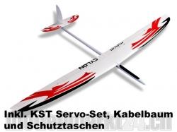 Set RCRCM Cylon GFK Spw 2m W/R inkl. Servos/Schutztaschen/..