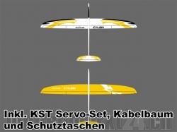 Set RCRCM Cylon CFK Spw 2m G/W inkl. Servos/Schutztaschen/..