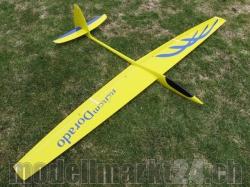 RCRCM Dorado Spw.2,34m GFK Gelb/Blau m. Schutztasche