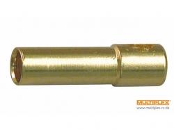 Goldbuchse 2mm, 3 Stk von Multiplex