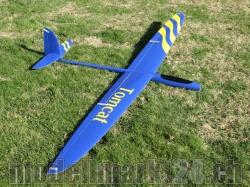 RCRCM E-Tomcat Spw.2.6m CFK+(Carbon) Blau/Gelb mit Schutzt..
