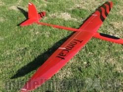 RCRCM Tomcat Spw. 2,6m Elektroversion CFK(Carbon) Rot/Schwarz