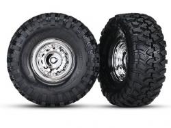 Traxxas 8177 Räder und Reifen, montiert, geklebt (1.9 Zoll..