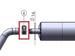 Klammer 20mm zu Kanisteranlage DLE111