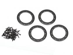 Traxxas 8169T Beadlock-Ringe, schwarz, 1,9Zoll Aluminium 4..