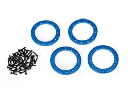 Traxxas 8169X Beadlock-Ringe, Blau, 1,9Zoll Aluminium 4Stk..