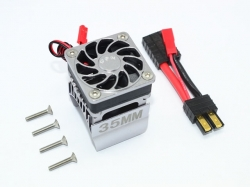 ALUMINUM 35MM MOTOR HEATSINK WITH COOLING FAN Grau - 9PC SET
