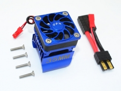 ALUMINUM 35MM MOTOR HEATSINK WITH COOLING FAN Blau - 9PC SET