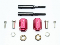 HARDEN STEEL EXTENDED LENGTH F/R STUB AXLE+17MM HEX Rot -1..