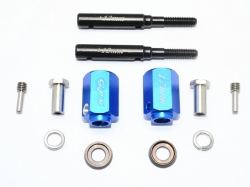 HARDEN STEEL EXTENDED LENGTH F/R STUB AXLE+17MM HEX Blau -..