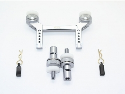 ALUMINUM FRONT & REAR MAGNETIC BODY MOUNT Grau -5PC SET