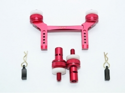 ALUMINUM FRONT & REAR MAGNETIC BODY MOUNT Rot -5PC SET
