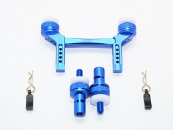 ALUMINUM FRONT & REAR MAGNETIC BODY MOUNT Blau -5PC SET