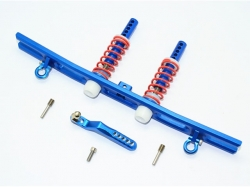 ALUMINIUM REAR BUMPER ABSORBER+D-RINGS+TOW HOOK Blau -5PC ..