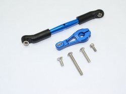 ALUMINUM SERVO HORN WITH STEERING LINK Blau -6PC SET