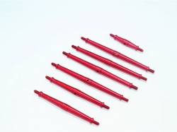 ALUMINUM TURNBUCKLES Rot -7PC SET