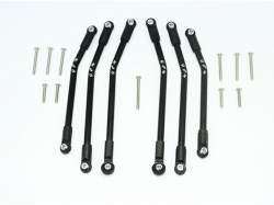 ALUMINIUM ADJUSTABLE SUSPENSION LINKS Schwarz -17PC SET