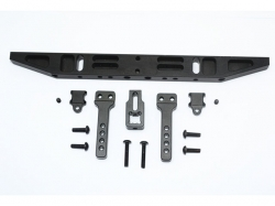 ALUMINIUM REAR BUMPER WITH D-RINGS (CLASSIC) Schwarz -14PC..