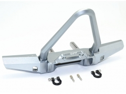 ALUMINIUM FRONT BUMPER WITH D-RINGS (SPIKED DESIGN) Grau -..