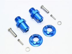 ALUMINUM 17MM HEX ADAPTERS FOR FRONT/REAR Blau -10PC SET
