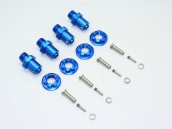 ALUMINUM 17MM HEX ADAPTERS FOR FRONT/REAR Blau -20PC SET